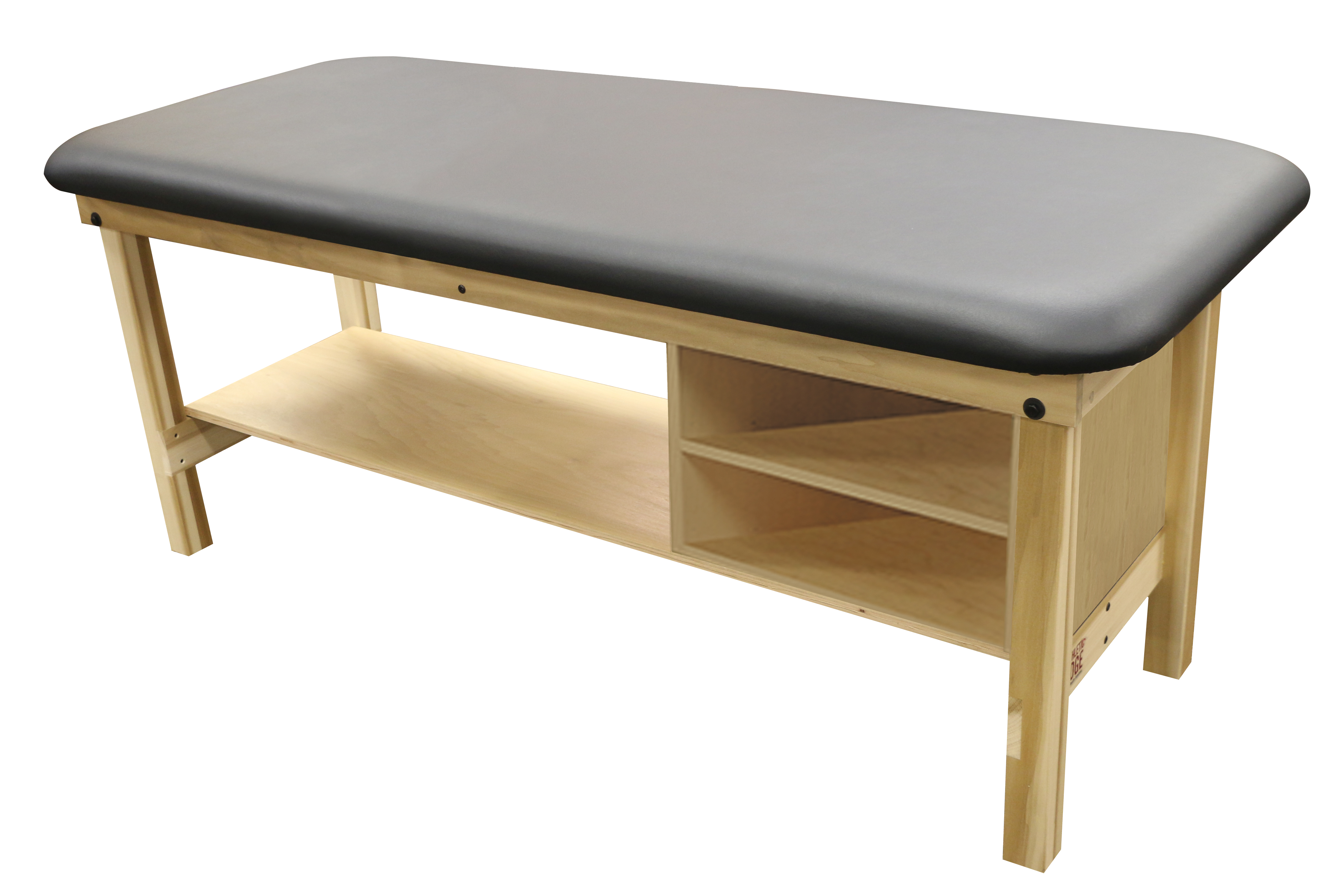 Poplar Table-(Flat-Top-Bottom-Shelf-Cubby-Foot-End)